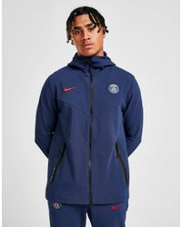 Nike Blue Paris Saint Germain Tech Hoodie for men