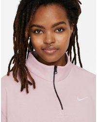 Nike Pink Sportswear 1/4-zip Fleece