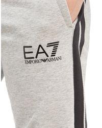 EA7 Gray Tape Fleece Pants