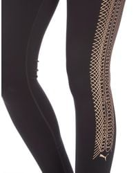 PUMA - Black Rope Collection Metallic Tights - Lyst