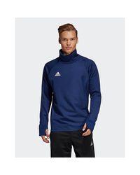 Adidas Originals Blue Condivo 18 Player Focus Warm Top for men