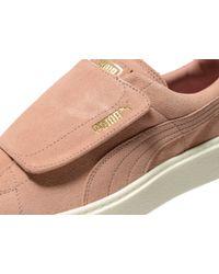 PUMA Pink Basket Platform Velcro