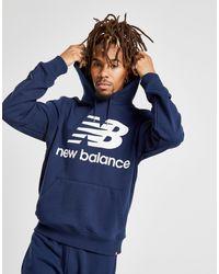 Sudadera con capucha Core New Balance de hombre de color Blue