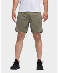 Adidas Green Aeroready 3-stripes 8-inch Shorts for men