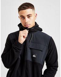 Quiksilver Black Full Zip Polar Fleece Hoodie for men