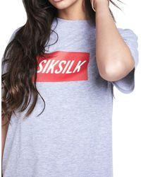 Siksilk - Gray Short Sleeve Box Logo T-shirt - Lyst