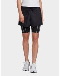 Adidas Originals Black Detachable Two-in-one Shorts