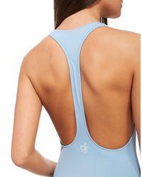 Calvin Klein Blue Nyc Racerback Swimsuit
