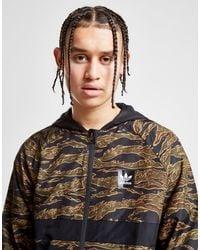 Adidas Originals Black Tiger Camouflage Windbreaker Jacket for men