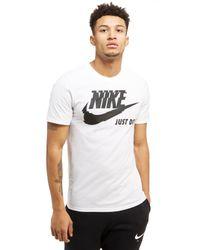 Nike - White Futura Just Do It T-shirt for Men - Lyst
