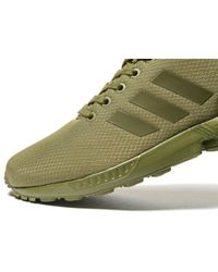 adidas Originals Synthetic Zx Flux Ripstop in Olive (Green) for ...