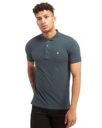 Lyle & Scott Gray Core Short Sleeve Polo Shirt for men