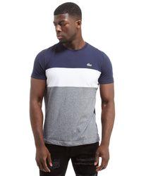 Lacoste Blue Colorblock T-shirt for men