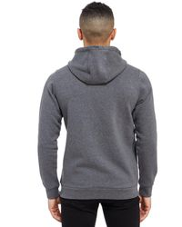 Adidas Originals Gray Linear Colour Block Hoody for men
