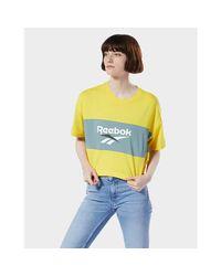 Reebok Yellow Classics Crop Tee