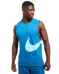 Nike - Blue Hybrid Swoosh Vest for Men - Lyst