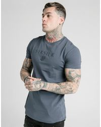 Camiseta Astro Gym Siksilk de hombre de color Gray