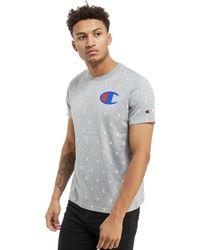 Champion Gray All Over Print T-shirt for men