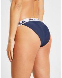 Fila Blue Tape Logo Bikini Bottoms
