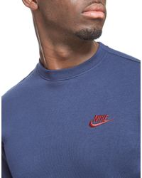 Nike Blue Foundation Crew Sweatshirt for men