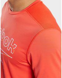 Reebok Red Workout Ready Activchill T-shirt for men