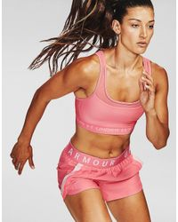 Under Armour Pink Armour Mid Crossback Mf Sports Bra