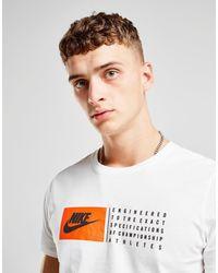 08d84a5e Nike Box Logo Script T-shirt in White for Men - Lyst
