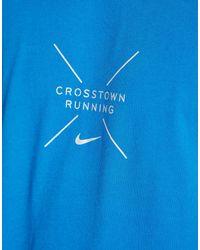 Nike Blue Crosstown Running T-shirt for men