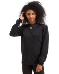Adidas Originals - Black Trefoil Football Long Sleeve T-shirt - Lyst