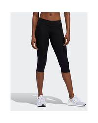 Adidas Originals Black Own The Run 3/4 Leggings
