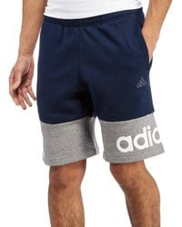 Adidas Blue Linear Shorts for men