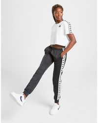 T-Shirt Tape Crop Femme Kappa en coloris White