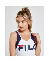 Fila Blue Logo Zip Swimsuit