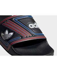 Adidas Originals Black Adilette Slides for men