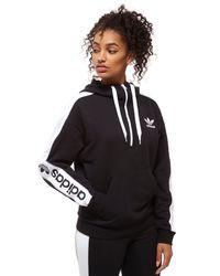 Women's Black Linear 12 Zip Hoodie
