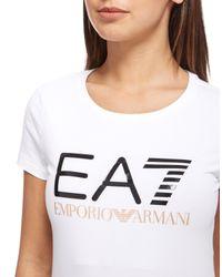 EA7   White T-shirt Women Ea7   Lyst