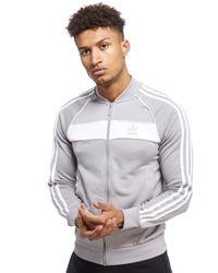 Adidas Originals Gray Superstar Poly Track Top for men