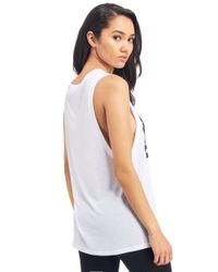Ivy Park White Muscle Tank Top