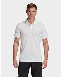 Adidas White Club Solid Tennis Polo Shirt for men
