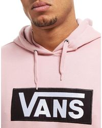 Vans Pink Drop Small Box Hoodie for men