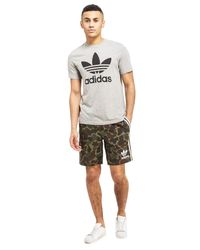 Adidas Originals - Green Trefoil Woven Shorts for Men - Lyst