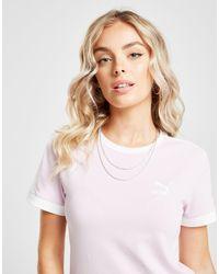 PUMA White Classic T7 Slim T-shirt