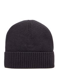 Tommy Hilfiger - Black Small Flag Beanie for Men - Lyst