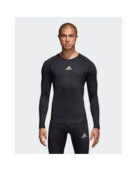 Adidas Originals Black Alphaskin Sport Long-sleeve Top for men