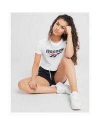 Reebok White Cl F Vector Crop Plus Size W T-shirt