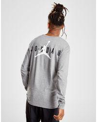 6fe2968b Nike Long Sleeve Back Logo T-shirt in Gray for Men - Lyst