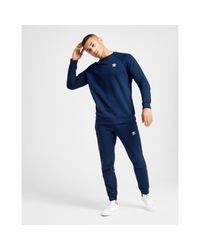Adidas Originals Blue Essential Trefoil Cuffed Joggers for men