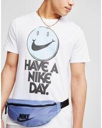Nike - White Smile Swoosh Short Sleeve T-shirt for Men - Lyst