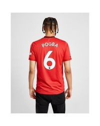 Adidas Red Manchester United Fc 2019/20 Pogba #9 Home Shirt for men