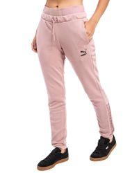 0cf03603e395c0 Lyst - PUMA Lace Up Hoodie in Pink